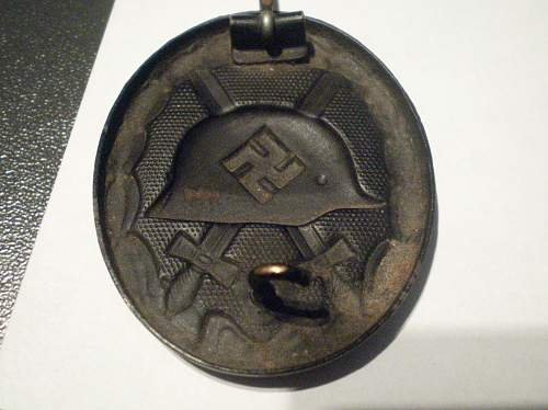 German WW2 - Verwundetenabzeichen im Schwarz.