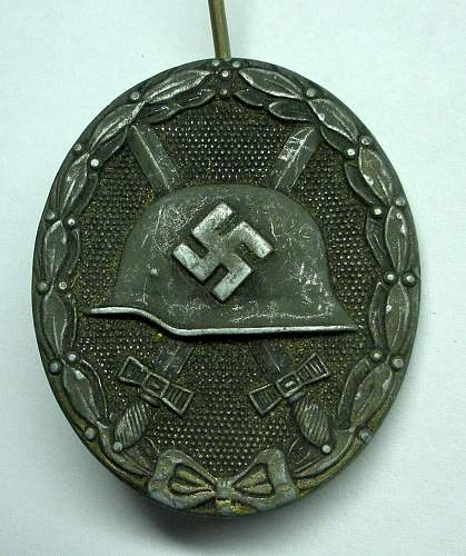 Click image for larger version.  Name:Silver Wound Badge2.jpg Views:102 Size:256.0 KB ID:172635