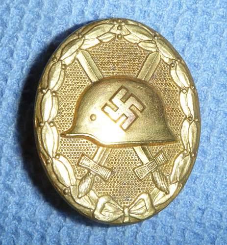 Verwundetenabzeichen in gold