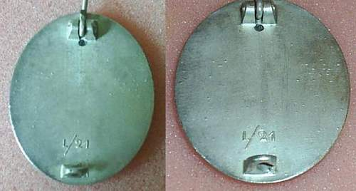 Verwundetenabzeichen in Silber  L/21.
