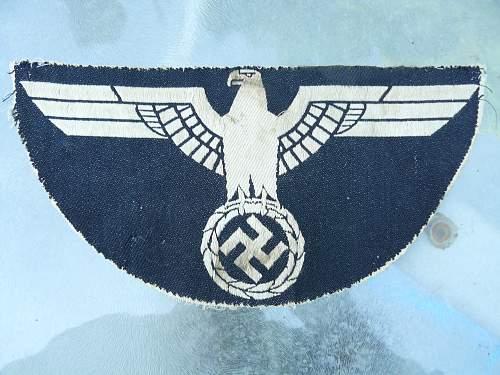 Verwundetenabzeichen,Large Eagle,Strange Sieg Heil Pin