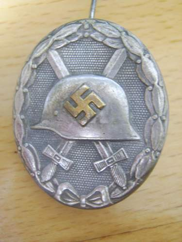 Silber Verwundentenabzeichen.