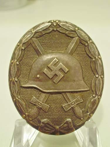 Verwundetenabzeichen - Schwarz und Silber