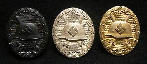 Verwundetenabzeichen by 65, Klein & Quenzer