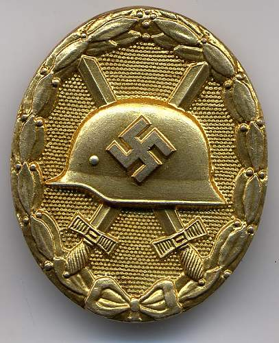 Gold wound badge