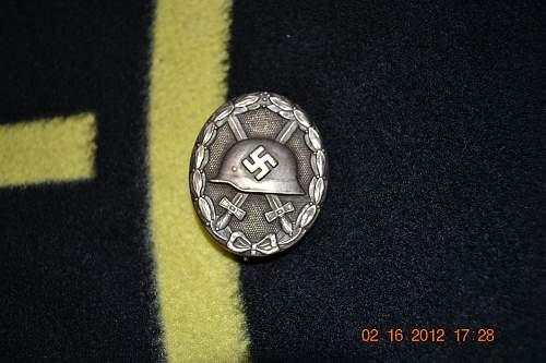 Verwundetenabzeichen Silver for review