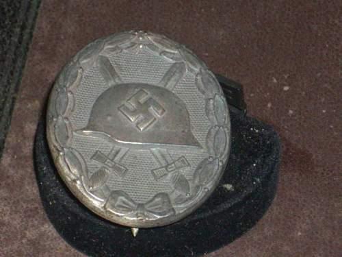 WW2 Verwundetebabzeichen in Silber.