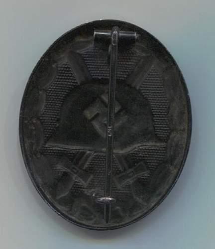 Verwundetenabzeichen 1939 in Schwarz L/18