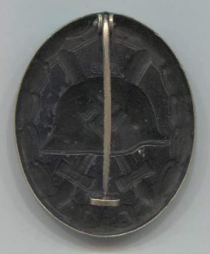 Verwundetenabzeichen 1939 in Schwarz 107