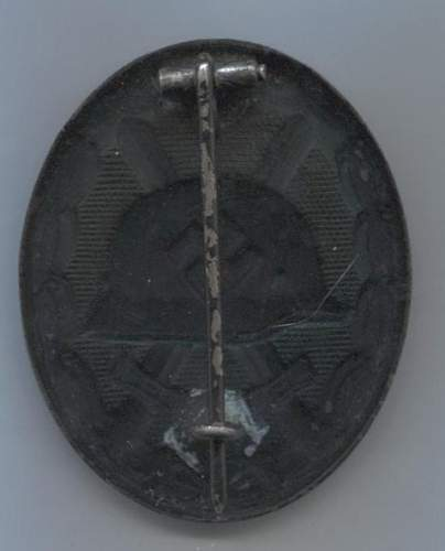Verwundetenabzeichen 1939 in Schwarz L/13