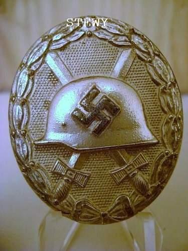 Verwundetenabzeichen 1939 in Silber marked 92