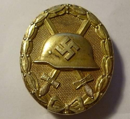 Verwundetenabzeichen Gold mm30