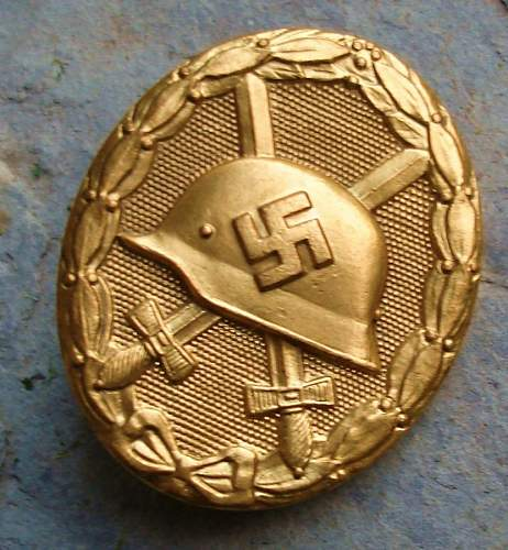 Verwundetenabzeichen Gold original?