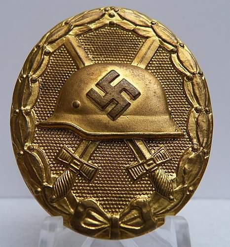verwundetenabzeichen gold Manufacture 30