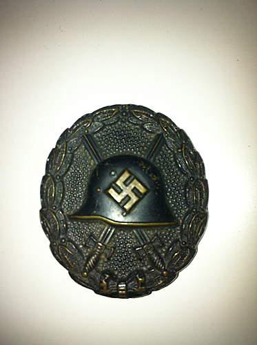 Verwundeten Abziechen Schwarz 1936