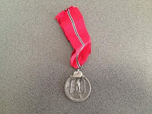 """First German medals! Medaille """"Winterschlacht im Osten 1941/42"""" and Verwundetenabzeichen 1939 in Schwarz"""