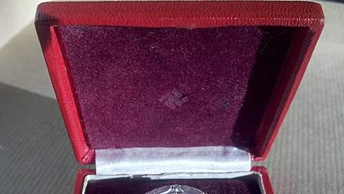 Verwundetenabzeichen in Silber (unusual case)