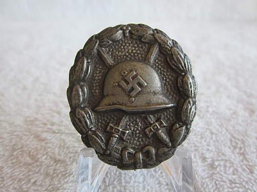 Verwundetenabzeichen Condor Legion in Schwarz