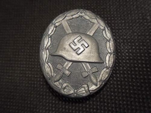 Verwundetenabzeichen 1939 in Silber - unmarked