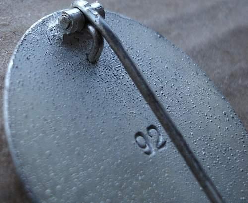 Verwundetenabzeichen 1939 in Silber '92'