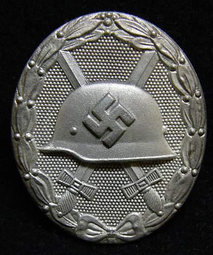 Verwundetenabzeichen 1939 in Silber, 65, K&Q, Klein & Quenzer