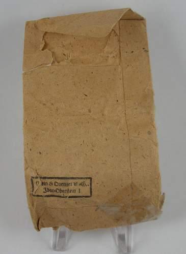 Verwundetenabzeichen in Schwartz - 65 - Klein & Quenzer w/packet