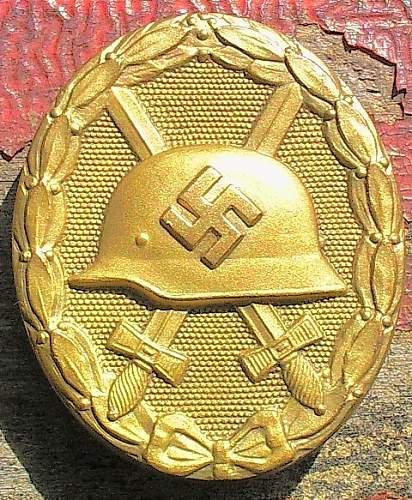 Verwundetenabzeichen in Gold.