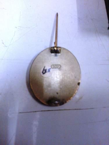 Verwundetenabzeichen in Gold marker 107