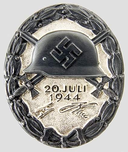 20. Juli 1944 Verwundetenabzeichen in Silber.