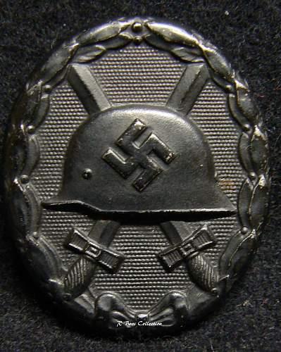 Verwundetenabzeichen 1939 in Schwarz, L/56, Funke & Bruninghaus