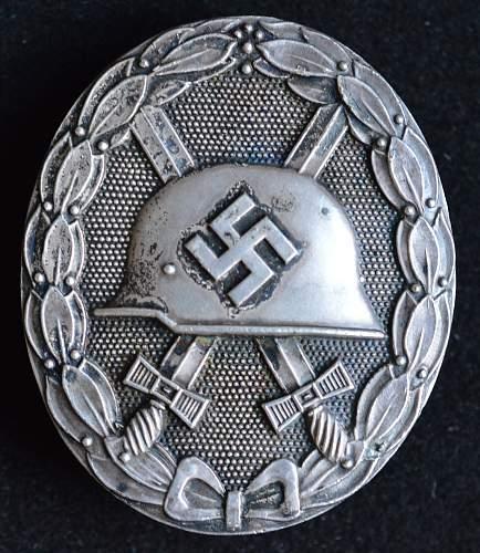 Verwundetenabzeichen 1939 in Silber - Deschler