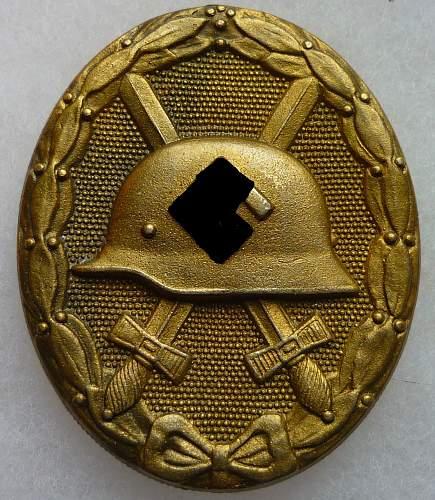Verwundetenabzeichen GOLD 127 real?