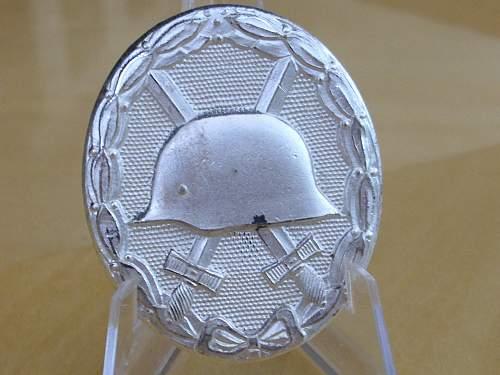 57er Deumer Silver wound badge....