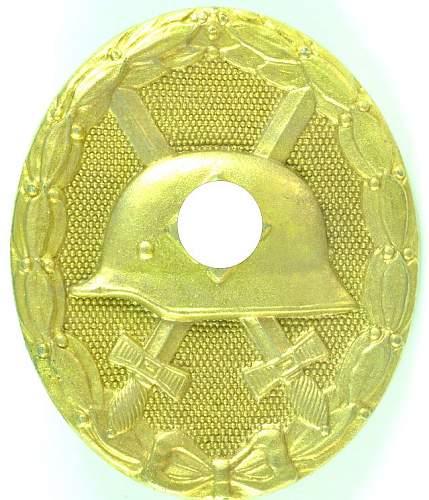 Verwundetenabzeichen in Gold.....worth it?
