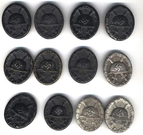 Verwundetenabzeichen collection