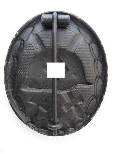 Verwundetenabzeichen. Black Wound Badge mm L/16 with envelope