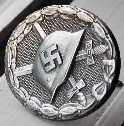 Verwundetenabzeichen in Silber