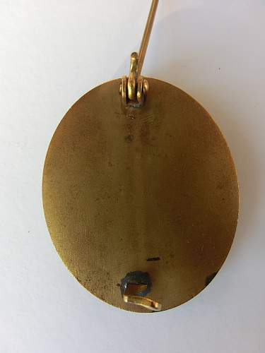 Cased verwundetenabzeichen in gold
