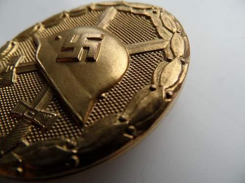 Verwundetenabzeichen Gold