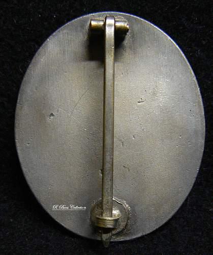 Verwundetenabzeichen in Silber, L/17,  Hermann Wernstein Jena Lobstadt