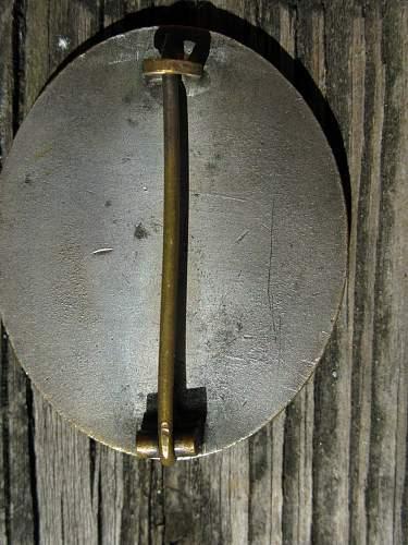Unmarked Verwundetenabzeichen in Silber