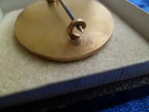Verwundetenabzeichen in gold?