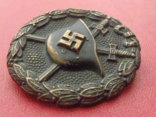 Verwundetenabzeichen 1. Modell 1939 in Schwarz - ask for help