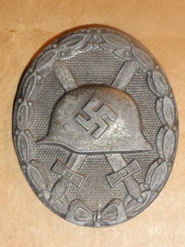 Verwundetenabzeichen 1939 in Schwarz und Silber