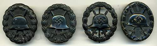 My Small Collection of Black Wound Badges Spanning Two World Wars