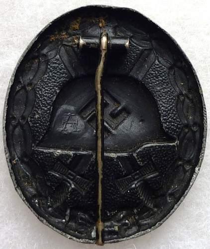 Black Verwundetenabzeichen