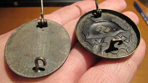 Verwundetenabzeichen 1939 in Silber und Schwarz