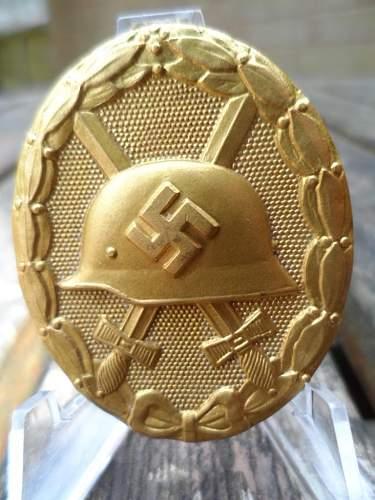 Verwundetenabzeichen (Gold Wound Badge)  in Gold, Marked 30