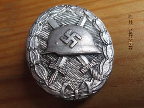 Verwundetenabzeichen 1939 in Schwarz und Silber,wiedmann \deschler