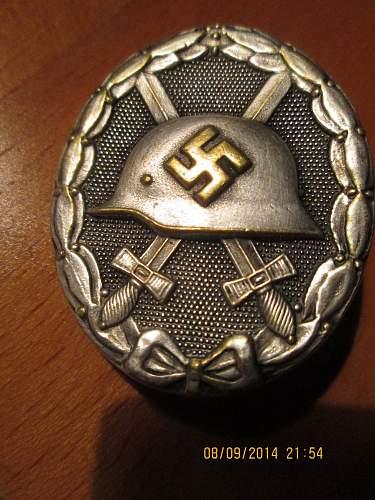 Verwundetenabzeichen 1939 in Silber, Need help